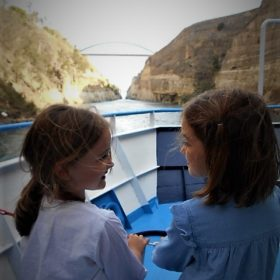 kids Greece corinth canal