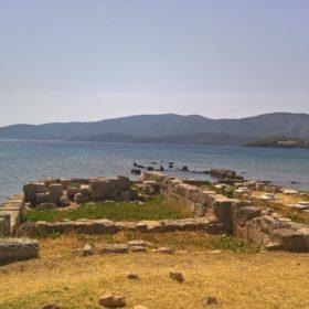 kids Greece beach babies ancient port