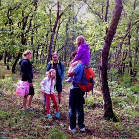 kids Greece family hiking