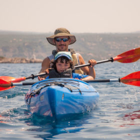 sea kayak kids Messinia