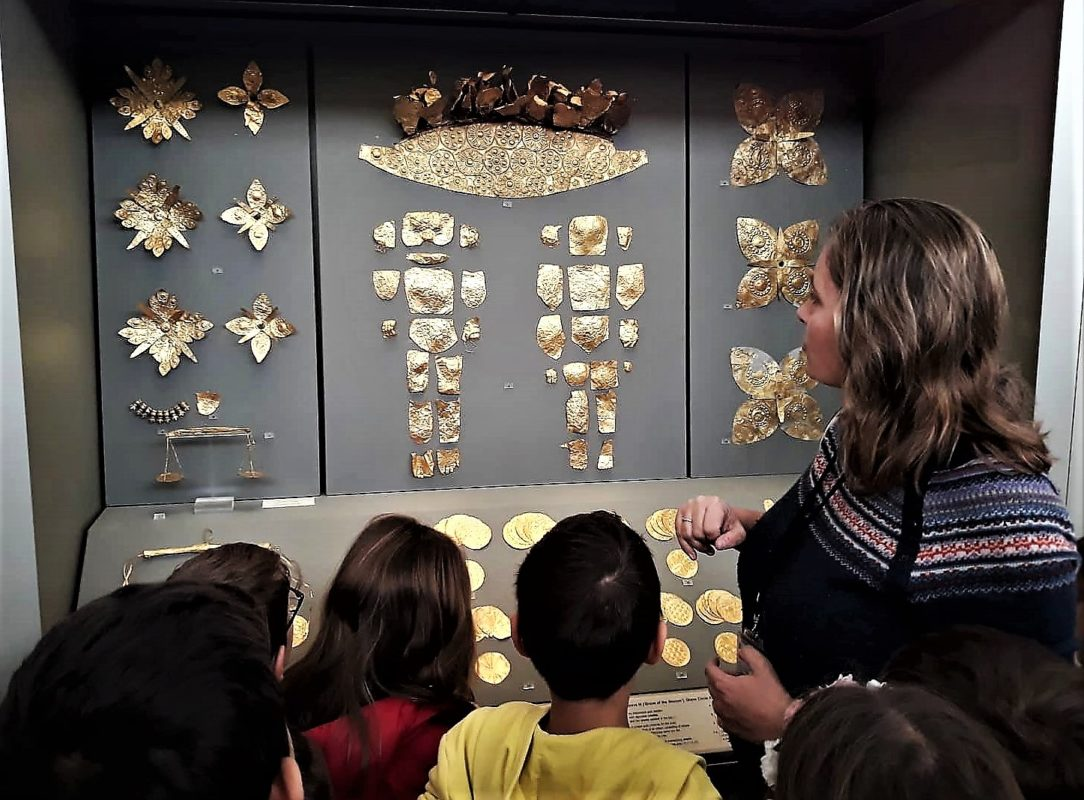 National Museum Greece gold kids