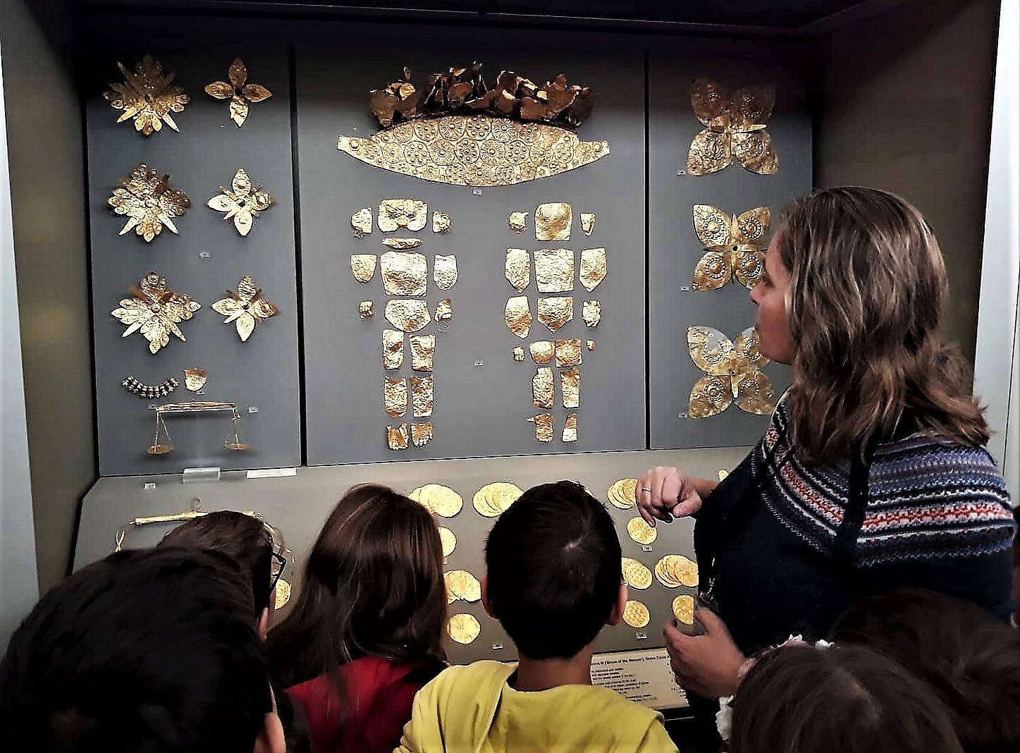 National Museum Greece gold kids