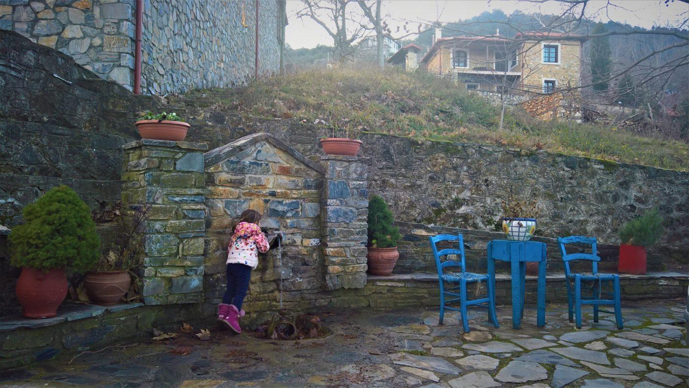 Olymbos mountain Greece kids pori