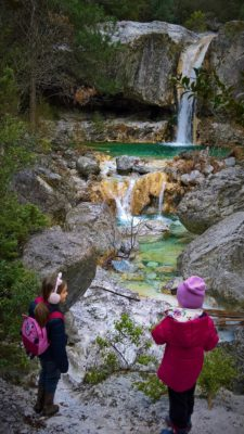 Olymbos mountain Greece kids orlias waterfalls