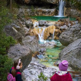 olympus mountain Greece kids orlias waterfalls