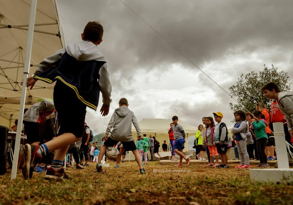 kids Greece lake stymfalia run