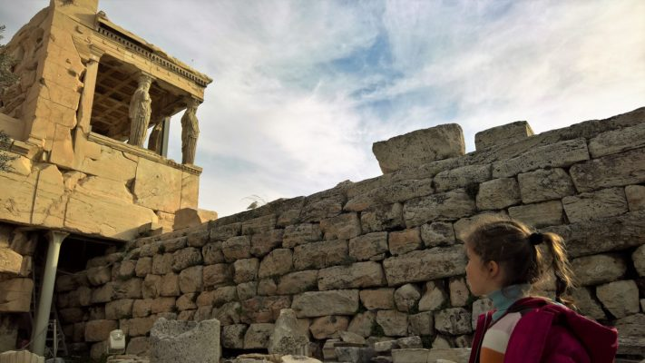 Greece acropolis kids
