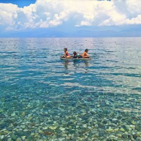 beach bar kids Greece close to Athens
