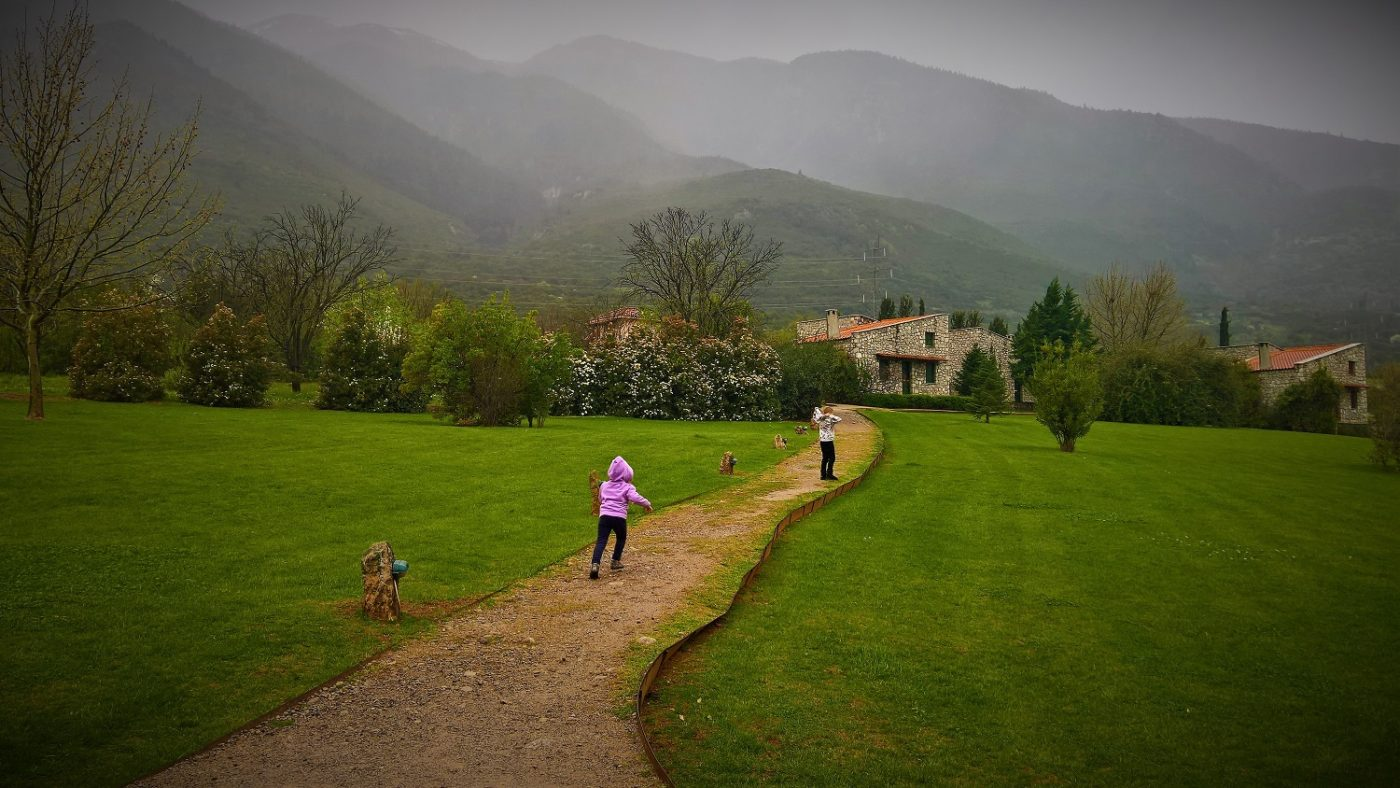 Greece kids mountains farm hotel