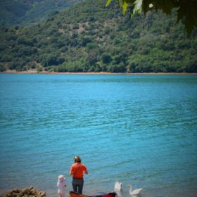 peloponnese kids greece lake