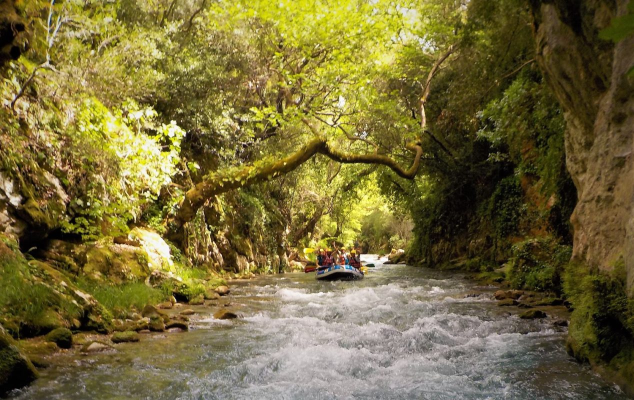 peloponnese kids greece rafting lousios