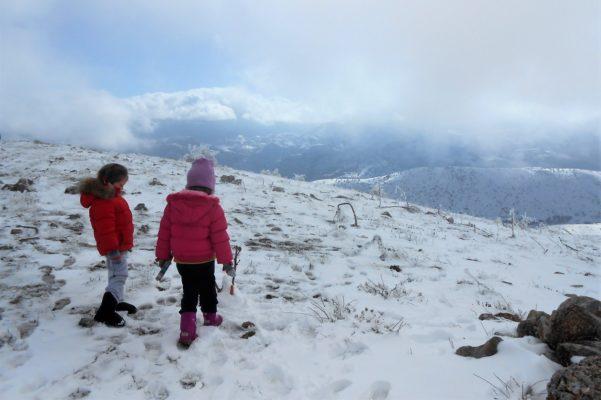 kids Greece peloponnese snow