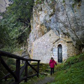 Greece kids monastery mountains