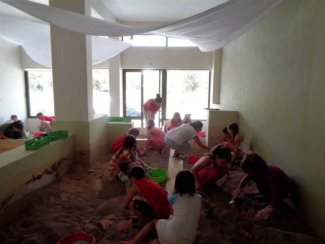 kids Greece beach olympia