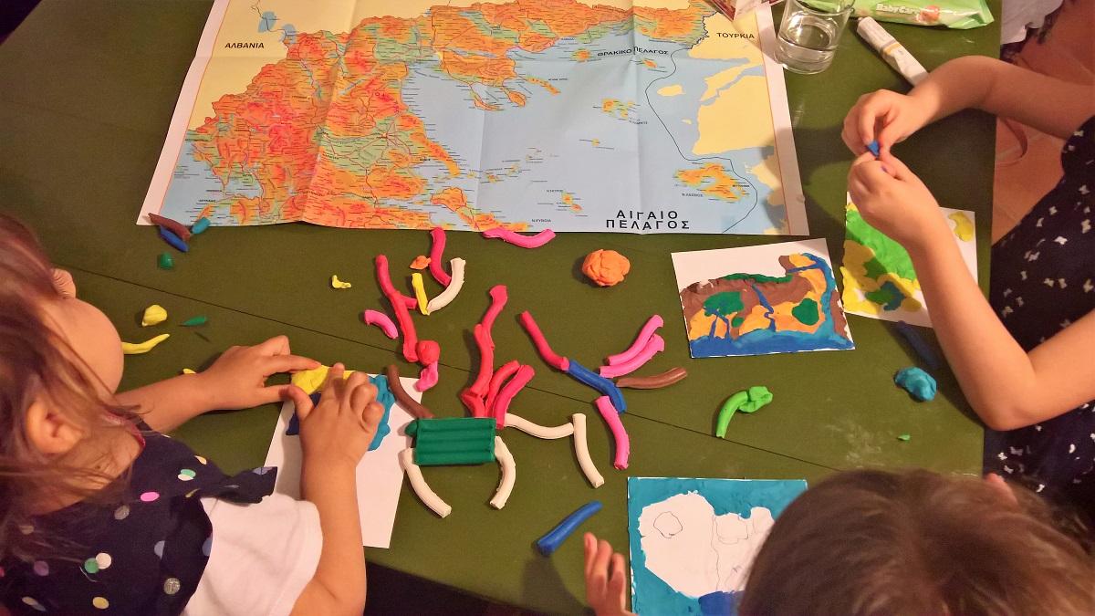 map kids Greece