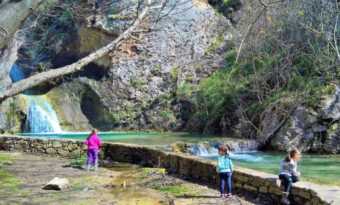 greece kids hiking kavala
