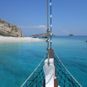 Greek islands aspronisia beach