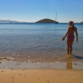 lipsi island dodecanese kids beach