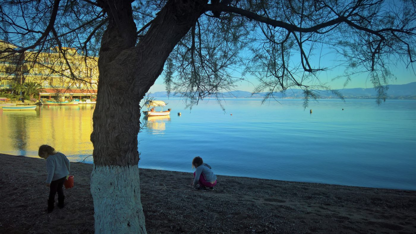 kids Greece evia halkida beach