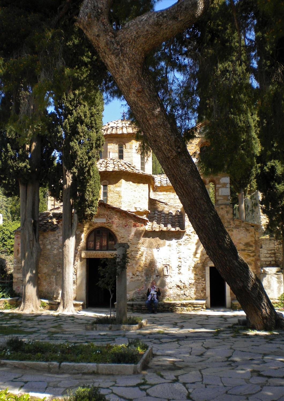 Kessariani monastery Athens kids tour