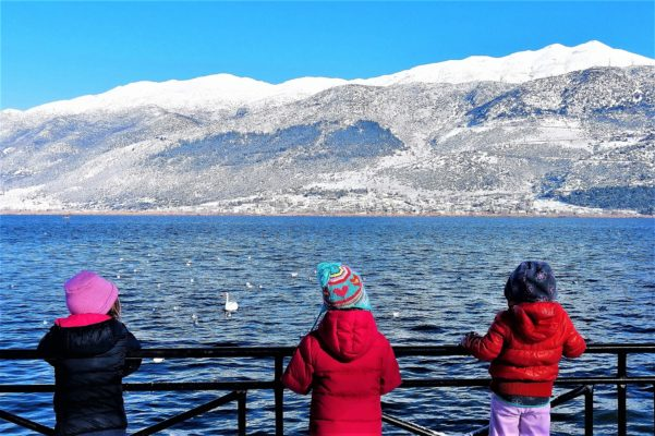 kids ioannina lake greece