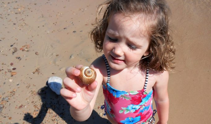 summer in Greece kids sea shell