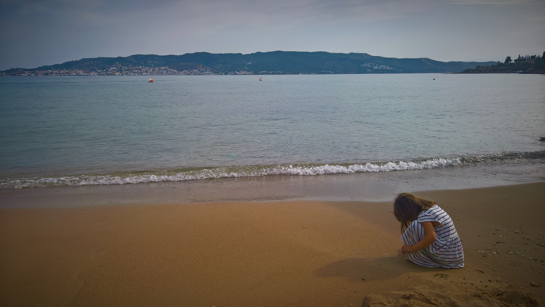 kids Greece baby beach