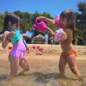 kids Greece baby beach