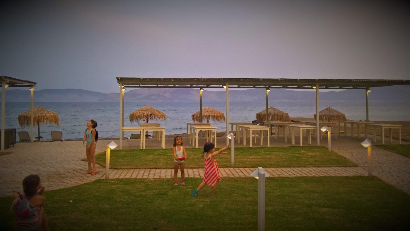 kids Greece seafront farm beach