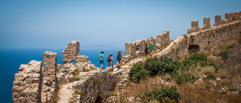kids Greece beach castle