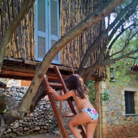 kids Greece beach treehouse