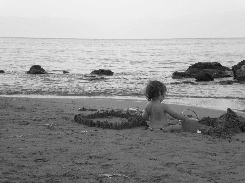 kids Greece beach baby