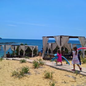 kids Greece beach ammothines costa navarino