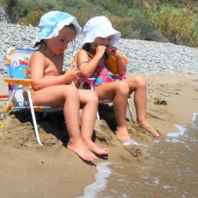 kids Greece beach