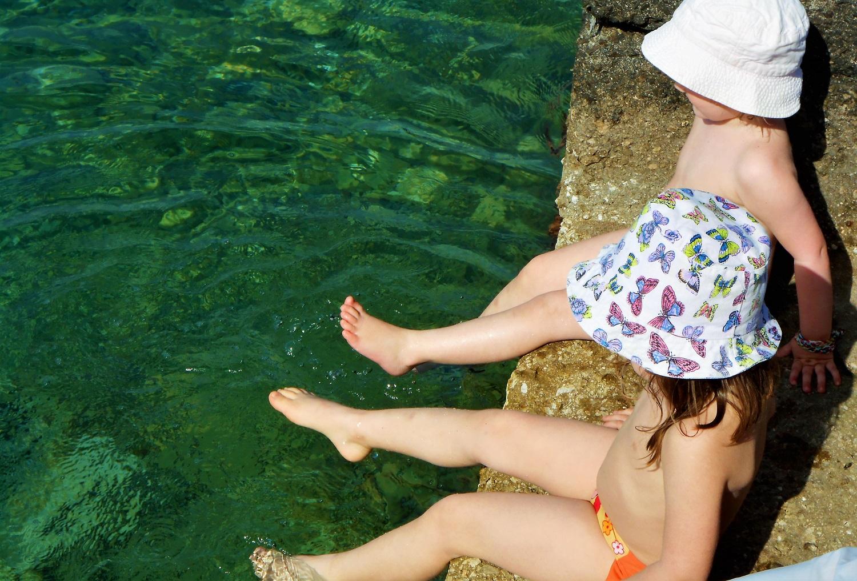 kids Greece beach pylos
