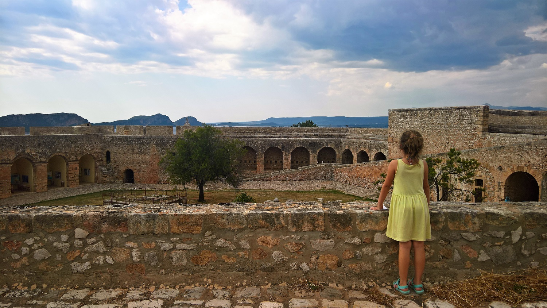 kids Greece pylos castle