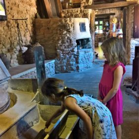 kids Greece olive oil watermill