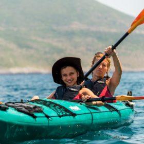 peloponnese kids Greece sea kayak