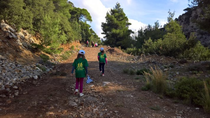 kids Greece hiking evia
