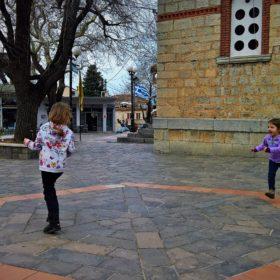 Greece kids Parnassos Polydroso
