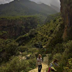 Greece kids Parnassos trail path