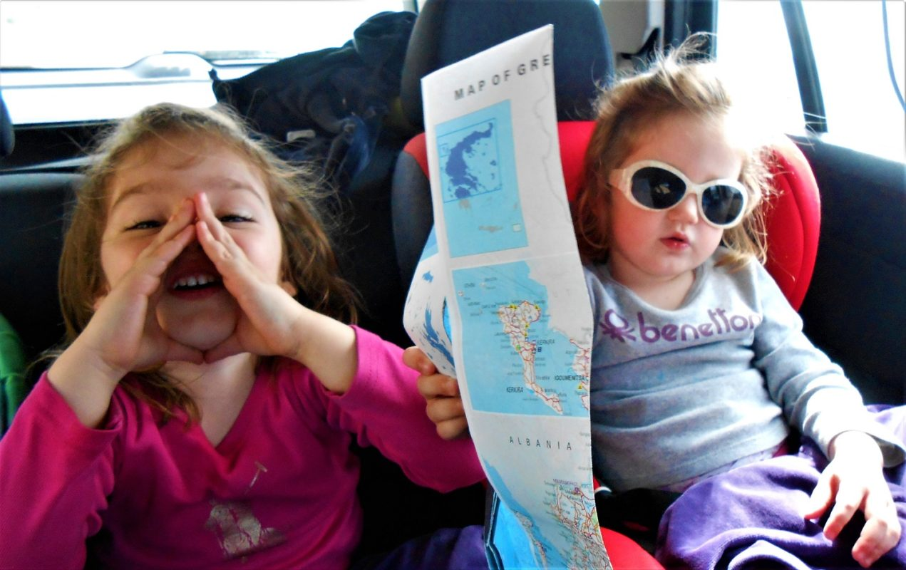 travel with kids car Greece