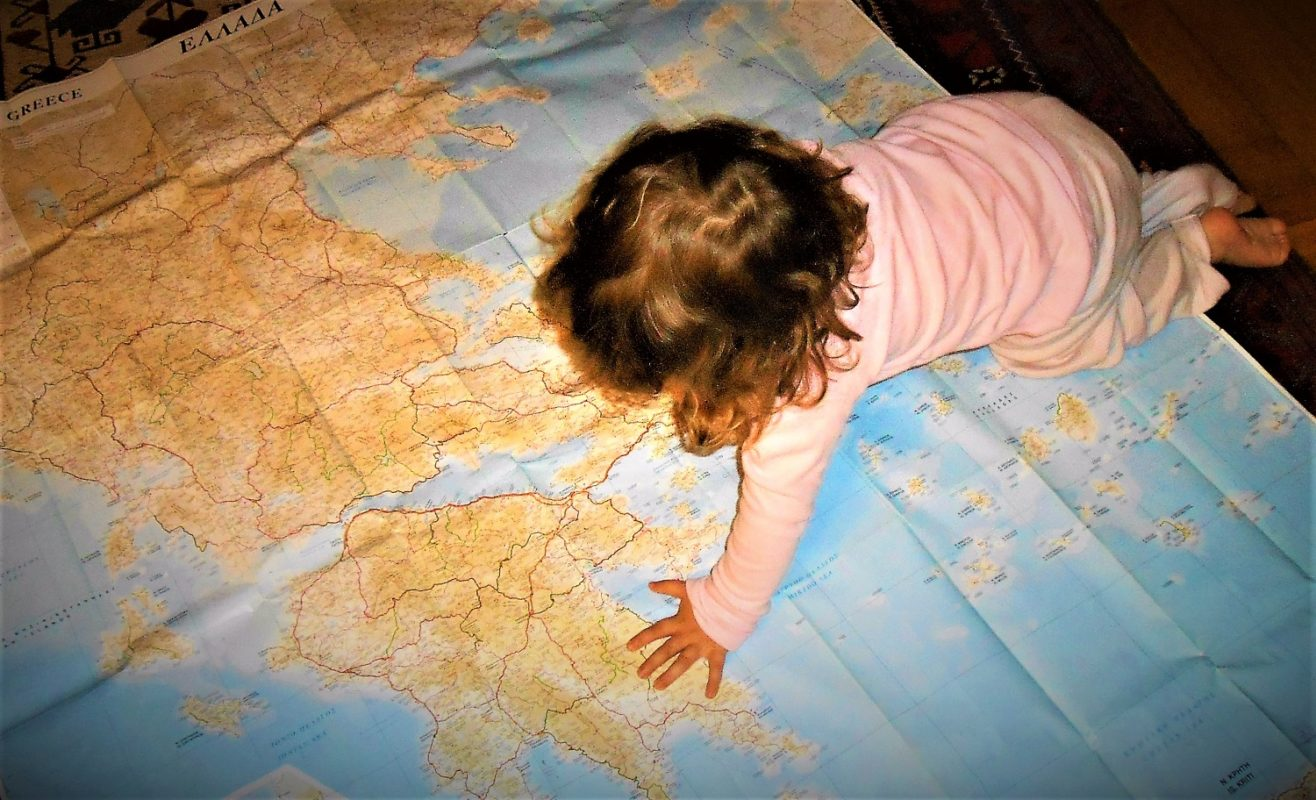 map kids travel Greece