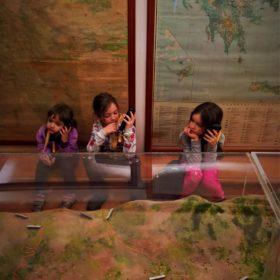 Greece kids Parnassos mines museum vagonetto