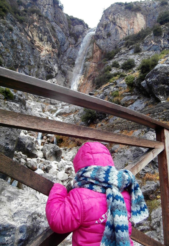 Greece kids family waterfalls