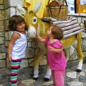 donkey sisters Greece islands