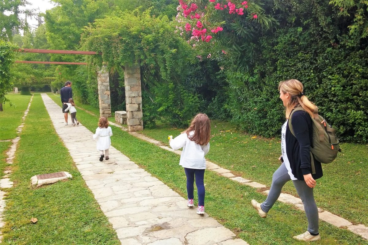 diomedes garden sacred road athens kids family