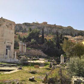 roman agora athens acropolis