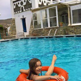 tinos islands pool kids