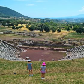 ancient messene messinia peloponnese kids theatre